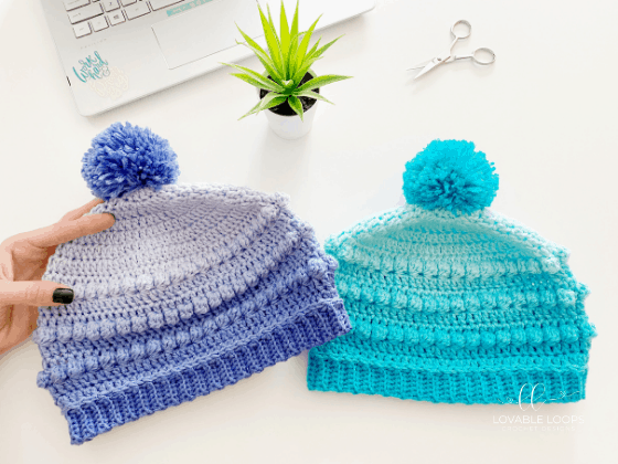 bobble stitch beanie crochet pattern free