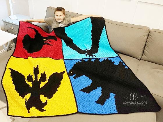 godzilla blanket crochet pattern free
