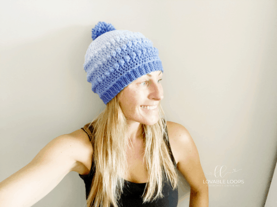 bobble stitch beanie crochet pattern