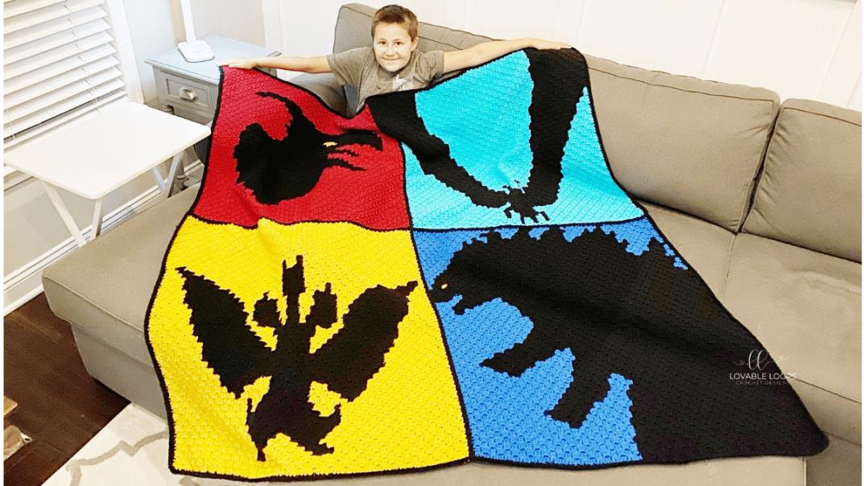 Godzilla Blanket Crochet Pattern