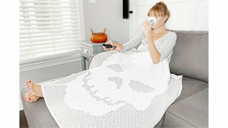 skeleton throw blanket crochet pattern