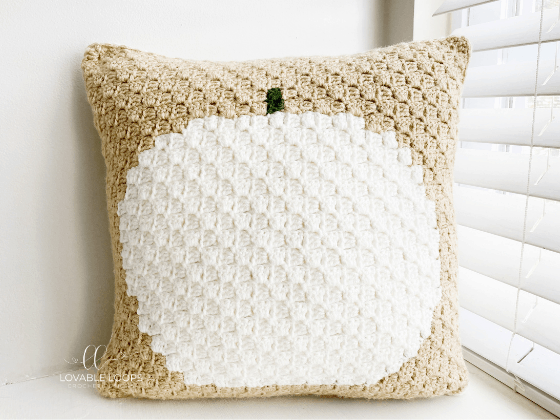 corner to corner pumpkin pillow crochet pattern
