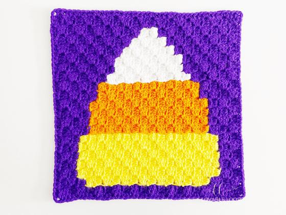corner to corner candy corn crochet pattern