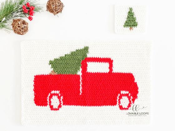 winter placemat set crochet pattern