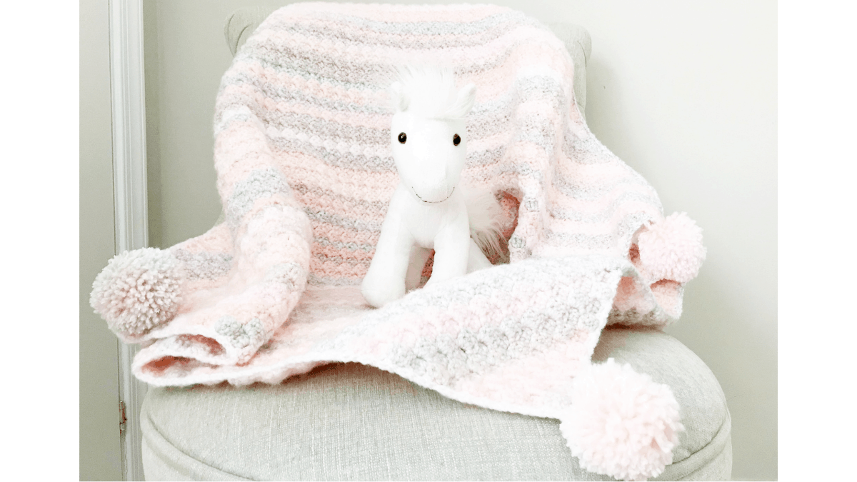 C2c Baby Blanket Crochet Pattern C2c Beginner Crochet Baby Blanket