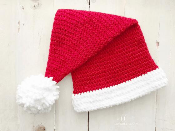 santa hat crochet beanie crochet pattern free