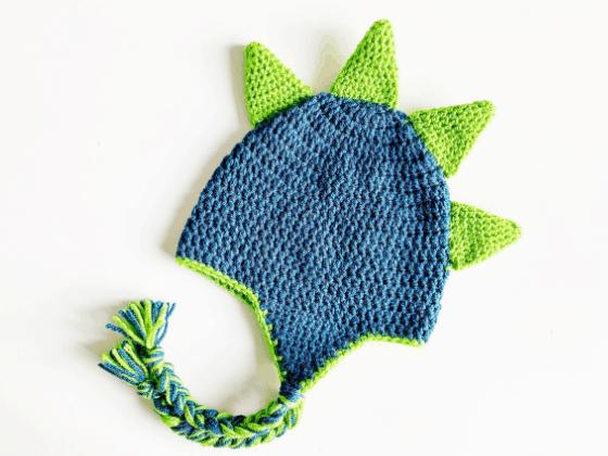 dinosaur spike hat crochet beanie crochet pattern free