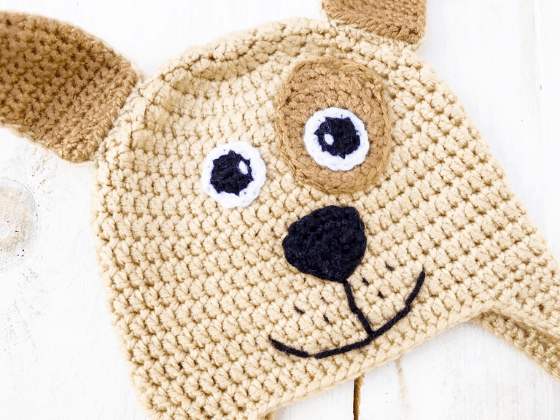puppy dog hat crochet beanie crochet pattern free