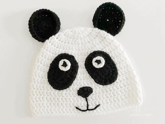panda hat crochet beanie crochet pattern free