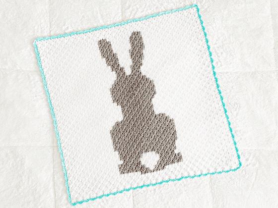 corner to corner bunny rabbit crochet pattern