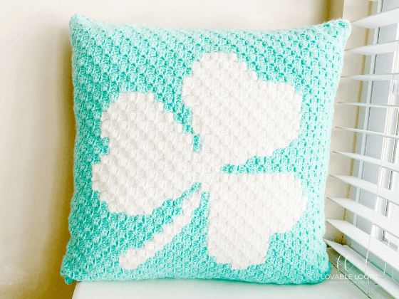 shamrock clover pillow crochet pattern