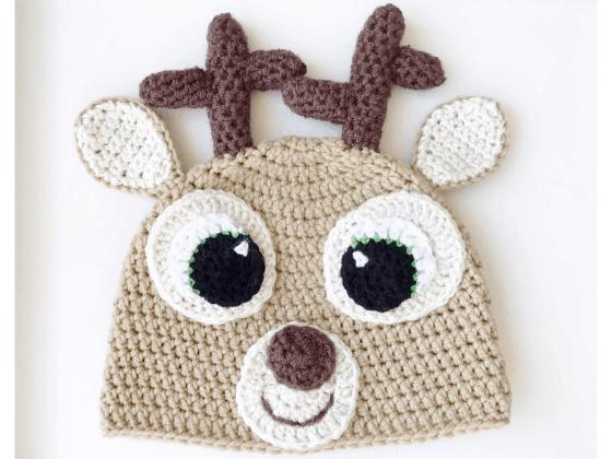 deer hat crochet beanie crochet pattern free