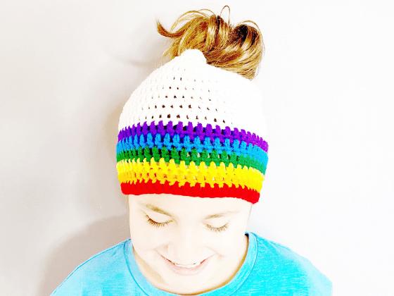 messy bun beanie crochet pattern free