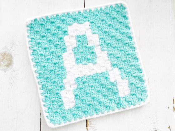 corner to corner letter a crochet pattern