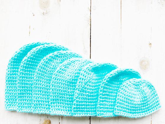 half double crochet beanie crochet pattern free