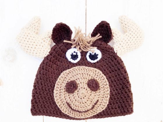 moose hat crochet beanie crochet pattern free