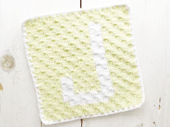 corner to corner letter j crochet pattern
