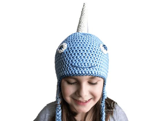 narwhal hat crochet beanie crochet pattern free