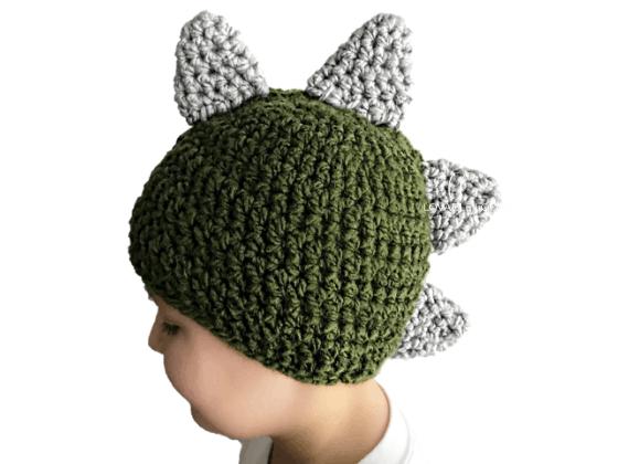 dinosaur hat crochet beanie crochet pattern free
