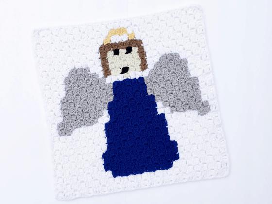corner to corner angel crochet pattern