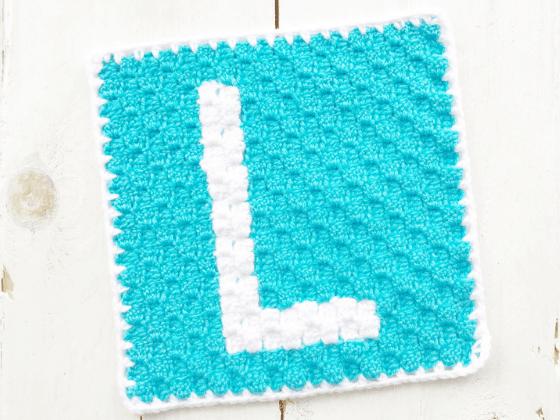 corner to corner letter l crochet pattern