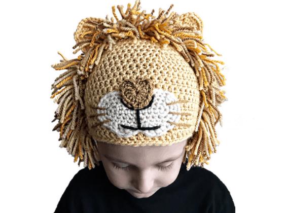 lion hat crochet beanie crochet pattern free