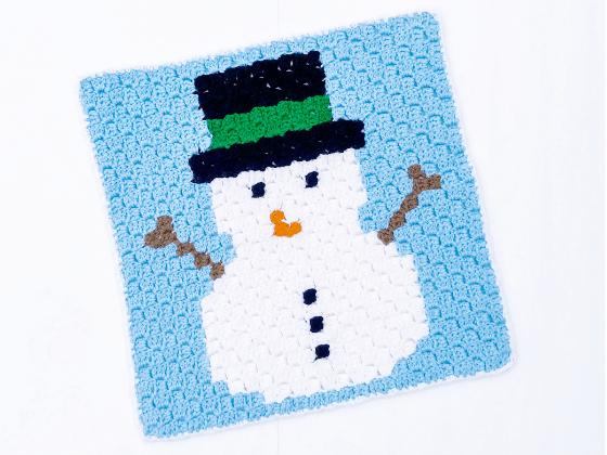 corner to corner snowman crochet pattern