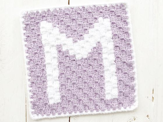 corner to corner letter m crochet pattern