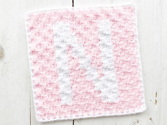 corner to corner letter n crochet pattern