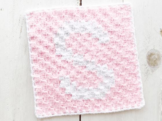 corner to corner letter s crochet pattern