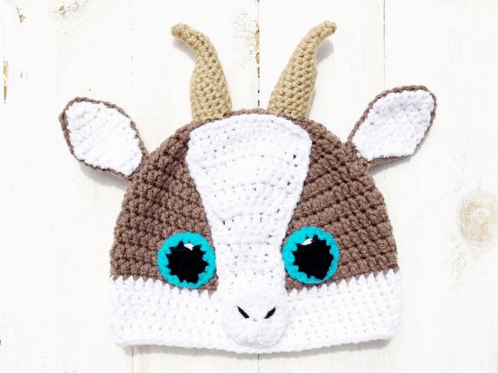 goat hat crochet beanie crochet pattern free
