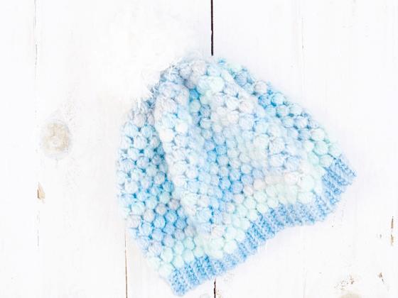 puff stitch beanie crochet pattern free