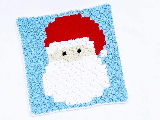 corner to corner santa claus crochet pattern
