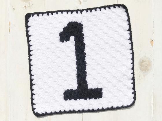 corner to corner number one crochet pattern
