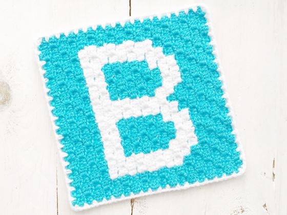 corner to corner letter b crochet pattern