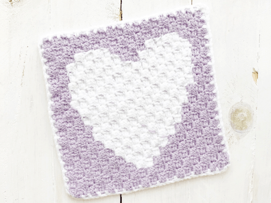 corner to corner heart crochet pattern