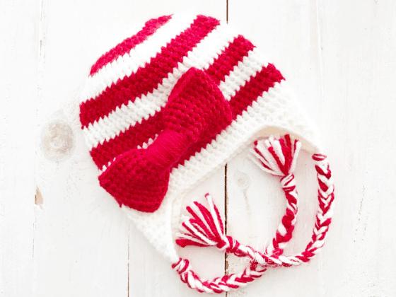 candy cane beanie crochet beanie crochet pattern free