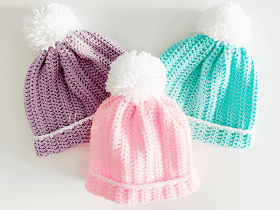 easy peasy beanie crochet pattern free