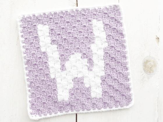 corner to corner letter w crochet pattern