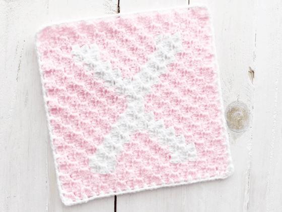 corner to corner letter x crochet pattern