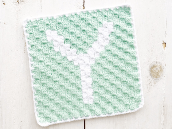 corner to corner letter y crochet pattern