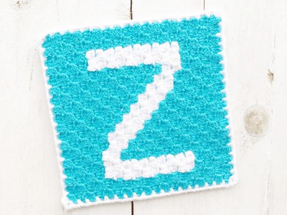 corner to corner letter z crochet pattern