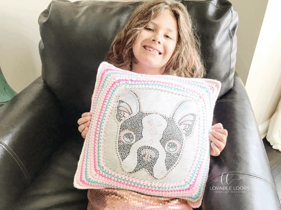 upcycled pillow crochet pattern