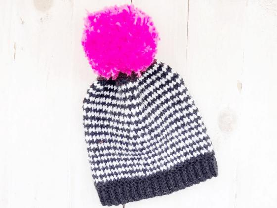 houndstooth beanie crochet pattern free