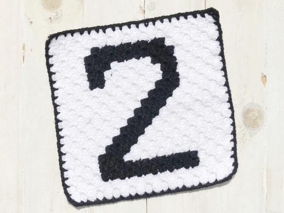 corner to corner number two crochet pattern