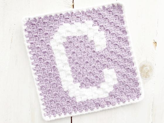 corner to corner letter c crochet pattern