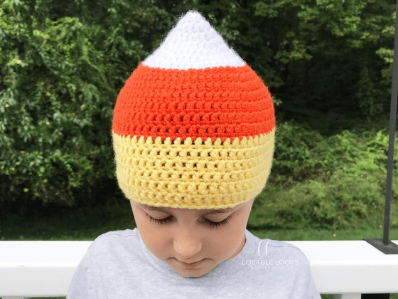candy corn hat crochet beanie crochet pattern free