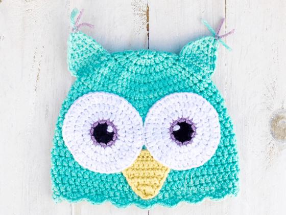 owl hat crochet beanie crochet pattern free