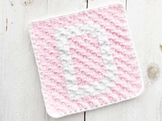 corner to corner letter d crochet pattern