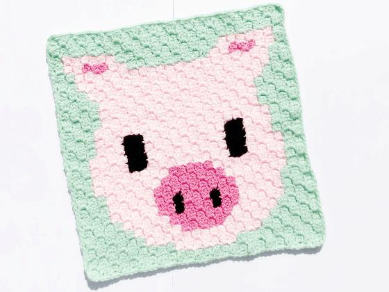 corner to corner pig crochet pattern